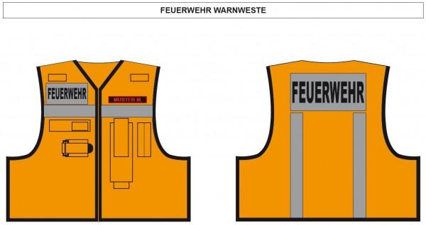 Kennzeichenweste Feuerwehr
