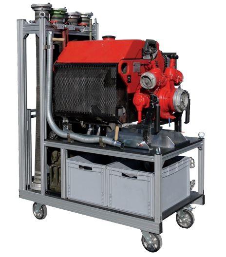 Rollcontainer Pumpe + Zubehör 2 (stehende Saugschläuche)