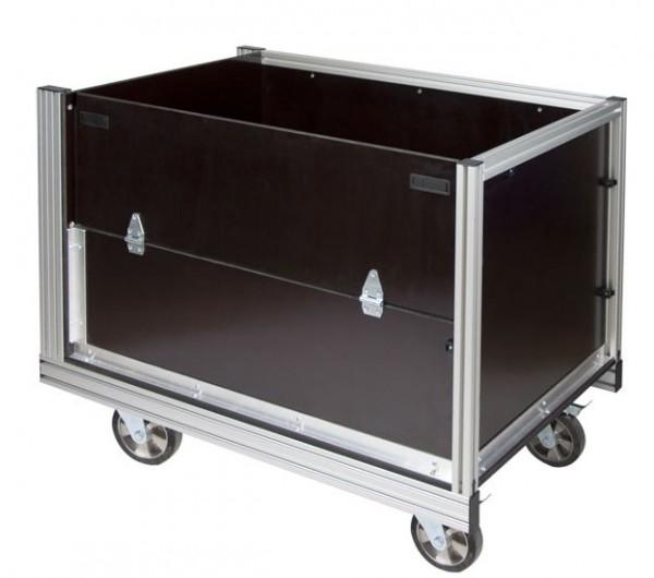 Rollcontainer Gitterbox Fahrzeugplatte